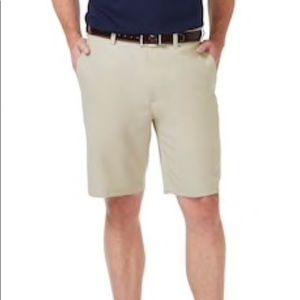 Haggar flat front light Khaki Golf shorts 34